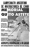 Afiche Memorial Quito Astete 1996